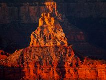 Upthrust. Of rock in the bottom of the Grand Canyon, taken from the North Rim, Arizona Stock Photos