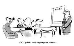 Uptick στις πωλήσεις διανυσματική απεικόνιση
