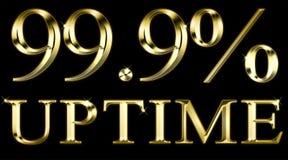 Uptime 99 percenten op zwarte Royalty-vrije Stock Foto's