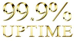 Uptime el 99 por ciento Foto de archivo libre de regalías