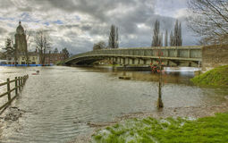 Upton Upon Severn flood Stock Photo