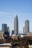 Uptown Charlotte, NC Royalty Free Stock Photos