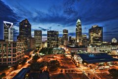 Uptown Charlotte Royalty Free Stock Image