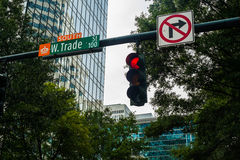 Uptown Charlotte Royalty Free Stock Photo