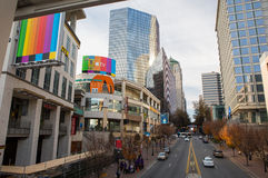 Uptown Charlotte, North Carolina Royalty Free Stock Photography