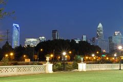 Uptown Charlotte, North Carolina Royalty Free Stock Images