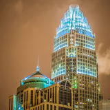 Uptown charlotte skyline buildings   in north carolina Royalty Free Stock Images