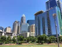 Uptown Charlotte. Skyscrapers and commercial buildings in uptown Charlotte, North Carolina Stock Photo