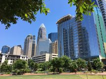 Uptown Charlotte. A view of uptown Charlotte in North Carolina, United States Stock Photos