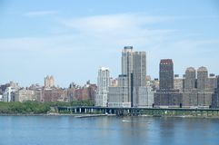 Uptown Manhattan. Hudson River View royalty free stock photography