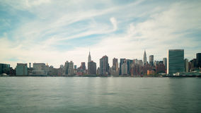 Uptown manhattan panorama view 4k time lapse from new york stock footage