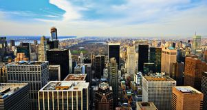 Uptown Manhattan Skyline Royalty Free Stock Photo