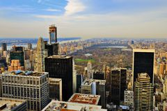 Uptown Manhattan Skyline Royalty Free Stock Images
