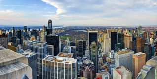 Uptown Manhattan Skyline Stock Images