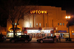 Uptown Movie Theatre in Cleveland Park Royalty Free Stock Images