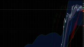 uptrend financiële, toenemende, economische verzameling hoge voorraadgrafiek Stock Foto