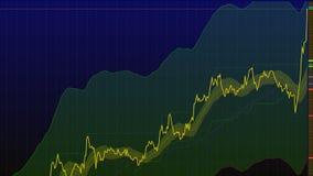 uptrend financiële, toenemende, economische verzameling hoge voorraadgrafiek vector illustratie