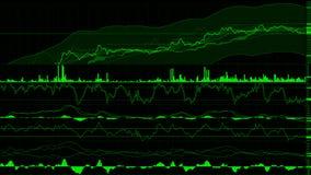 uptrend financiële, toenemende, economische verzameling hoge voorraadgrafiek Stock Afbeeldingen