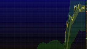 Uptrend. financial, rising, economic rally.stock chart high Royalty Free Stock Photo