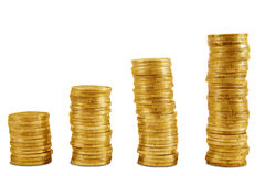 Uptrend gold coins Stock Photography