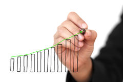 Uptrend Graph Stock Image