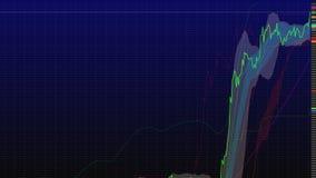 uptrend pieniężny, wydźwignięcie, ekonomiczny wiec akcyjna mapa wysoka Zdjęcie Royalty Free