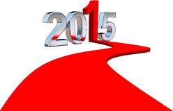 Upturn 2015. 3D illustration for 2015 concept royalty free illustration