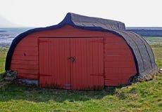 Upturned boat hut, northumberland Royalty Free Stock Photos