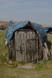 Upturned boat hut, northumberland Royalty Free Stock Photography