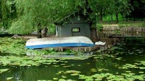 Upturned boat Stock Image