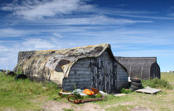 Upturned Boat sheds Royalty Free Stock Photos