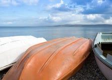 Upturned boats Royalty Free Stock Image