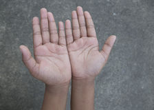 Upturned hands Royalty Free Stock Photography