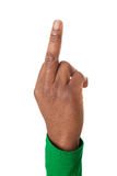 Upturned middle finger Stock Photos