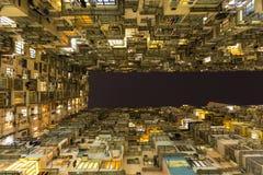 Łupu Podpalany budynek mieszkaniowy w Hong Kong Obrazy Stock
