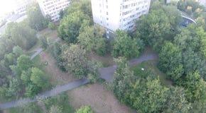 Upview della città Fotografie Stock