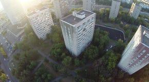 Upview della città Fotografia Stock Libera da Diritti