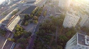 Upview della città Immagine Stock