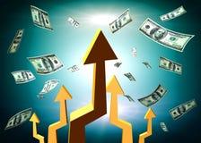 Upward arrows for profit symbol Royalty Free Stock Image