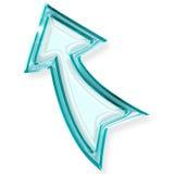 Upward blue arrow Royalty Free Stock Photo