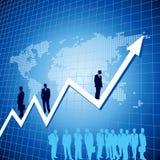Upward business arrow with businessman Stock Photos