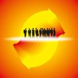 Upward business arrow with businessman Stock Image