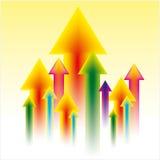 Upward business arrow of success Royalty Free Stock Photos
