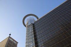 Upward Closeup View of High Rise Building Stock Photography