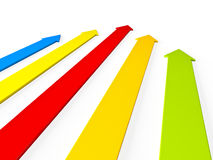 Upward colorful arrows rising Stock Photos