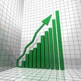 Upward diagram green Royalty Free Stock Photos
