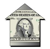 Upward dollar arrow Stock Image