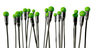 Upward Facing Microphones Royalty Free Stock Image