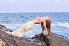Upward Plank pose Royalty Free Stock Photos