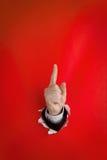 Upward pointing finger Royalty Free Stock Image